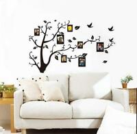 Photo Frame Tree Birds Wall Stickers Art Decal Family Home Decor Removable KV