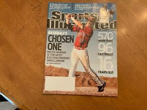 Sports Illustrated June 8 2009 BRYCE HARPER Cover *NO LABEL* MINT Nats/Phillies