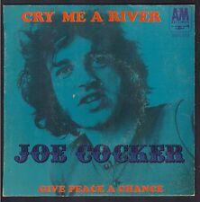 JOE COCKER Rare 45T SP BIEM AM RECORDS 818 CRY ME A RIVER