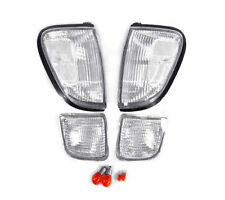 DEPO Clear Front Corner + Bumper Signal Lights FIT 98 99 00 TOYOTA TACOMA 4WD