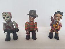 Freddy kruegar Jason Voorhees & Leatherface Mez-itz Mezco Cine de miedo figuras