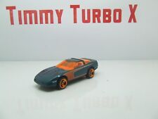 Hot Wheels 1980 Corvette metal fond bleu vert 70 mm Long X