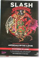 SLASH & Miles Kennedy Apocalyptic Love UK magazine ADVERT / Poster 11x8 inches