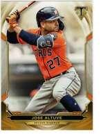 Jose Altuve 2019 Topps Triple Threads 5x7 Gold #10 /10 Astros