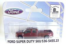 HO RIVER POINT STATION METALLIC RED F-450 DRW Dually Crew Cab : 1/87 scale Truck