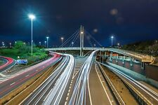 Large Canvas Of M621 Motorway, Leeds, City, Night, Architecture, Urban, Art