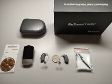 2 ReSound Linx 3D 767 BTE Open Fitting MFI direct streaming for iPhone+Mini Mic
