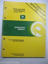 John Deere F910 F930 Front Mowers Om-M72336 A6 Operators Manual