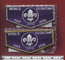 24th World Scouting Jamboree 2019 - Ltd. Ed. G & S Mylar Bdr Flaps w COA