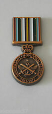 ANNIVERSARY OF NATIONAL SERVICE MEDAL 1951-72 30MM HIGH ENAMEL & COPPER PLATED