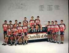 TEAM CHATEAU D'AX 89 cycling cyclist Gianni BUGNO TONY ROMINGER FIDANZA PASSERA