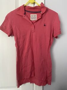 Jack Wills Pink Coral T Shirt Polo Size 8