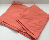 vintage retro  twin top bed sheet peach coral color Springs made in Brazil