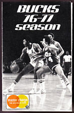 1976-77 MILWAUKEE BUCKS MASTERCHARGE BASKETBALL POCKET SCHEDULE FREE SHIPPING
