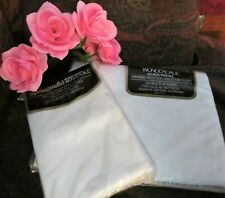 New Springmaid Wondercale White Full Top sheet & Pillowcases 50Cotton 50Poly