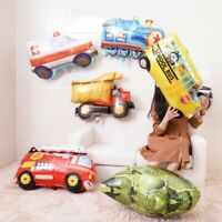 Kid's Foil Balloon School Cartoon Car Fire Truck Birthday Party Home Decor