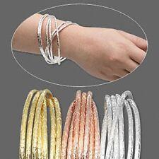 "Western Jewelry Bangle (1 Set of 3) Gold, Silver, Copper Finish 2 3/4"" Diameter"
