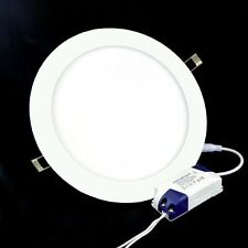 FARETTO LED 18W ULTRA SLIM INCASSO A MOLLA LED DRIVER LUCE BIANCO DIAMETRO 22cm
