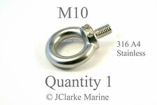 M10 Eye bolt DIN 580 made from marine stainless steel (316 A4)