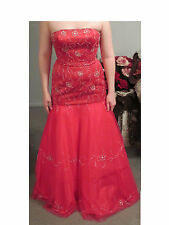 Pink trumpet style prom dress