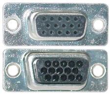 Lot10 Female High Density HD/HPDB15 SVGA/VGA end/connector D-Sub Crimp$S{NO PINS