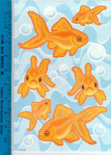 WALLIES GOLDFISH & BUBBLES wall stickers 28 decal gold fish kid's bathroom decor