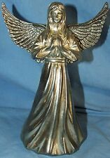 """International Silver Co Plated Angel Candle Stick Holder 7 3/4"""" Tall 5 3/4"""" Wide"""