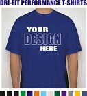 50 Custom Screen Printed Dri-Fit Moisture Wicking Dry T-Shirts - $7.00 each