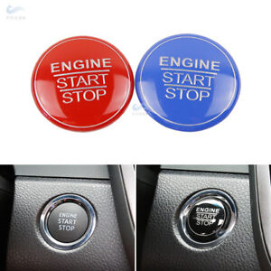 Alu Alloy Engine Start Stop Button Cover Ring For Toyota Camry 2018 Red/Black