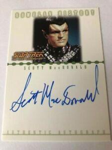 Star Trek Nemesis Auto Card RA8 Scott MacDonald by Rittenhouse Archives in 2002