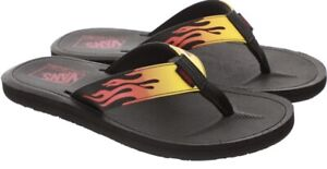 NEW Vans Nexpa Synthetic Ultracush Flame Men's Sandals Flip Flops Black