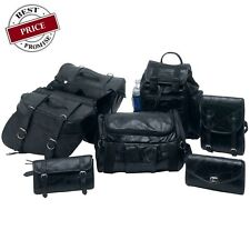YAMAHA V Star 1100 1300 650 LEATHER SADDLE BAGS SET 7PC