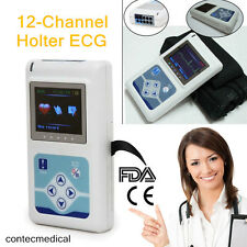 CE 12 canali ECG Holter ECG System Analyzer Monitor / registratore, Software