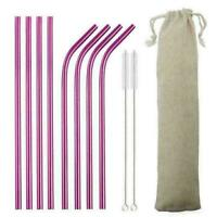 Reusable Metal Straws Stainless Steel Metal Straws Metal Straws Eco-Friendly