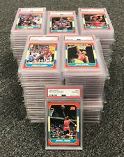 1986 Fleer Basketball Complete BGS PSA 10 Fully Graded Set + Stickers Jordan RC