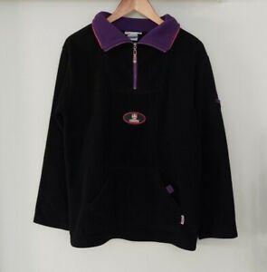 FREMANTLE DOCKERS - Black Fleece Jumper / Jacket - Vintage Logo - Official AFL