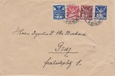 Czechoslovakia-1921 Postage paid 125 h Strakonice letter cover to Graz, Austria