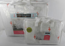 Cynthia Rowley Coastal Full Queen Comforter Set 3 Piece Embroidered Flamingo