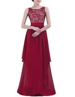 Women Formal Lace Long Dress Ball Prom Evening Party Cocktail Bridesmaid Wedding
