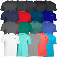 Under Armour Mens Charged Cotton Left Chest Lockup T Shirt UA Gym Training