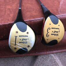 Vintage Wilson Staff II Tour block 1,3 woods golf clubs driver  great shape RH