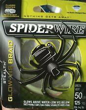 Spiderwire stealth glow-vis braid 50lb 125yrd
