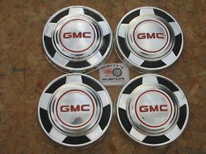1973-87 GMC 1/2 TON PICKUP TRUCK, VAN DOG DISH HUBCAPS, SET OF 4