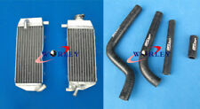 For YAMAHA YZ125 YZ125 02-04 03 2002 2003 2004 aluminum radiator & Black hose