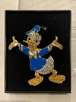 Disney Vintage Rhinestone Donald Duck Pin Rare