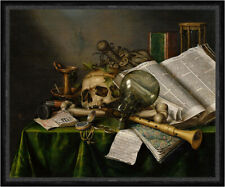 Vanitas - Still Life with Books and Manuscripts Collier Schädel  Faks_B 01731