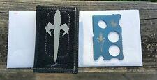 Microtech Assailant Credit Card Knife Blue Anodized Titanium & Bi-Fold Wallet