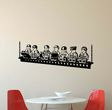 Lego Builders Wall Decal Playroom Decor Vinyl Sticker Kids Nursery Poster 553