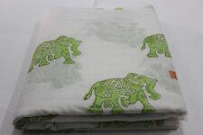 Handmade Cotton Indian Natural Elephant Hand Block Print 2.5 Yard Fabric  HBGCV