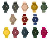 Damenuhr ooZoo Leder Design Armbanduhr Ø40mm Elegante Lederarmband silber Analog